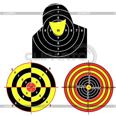 Set of targets for practical pistol shooting | Stock Vector Graphics |ID 3076145