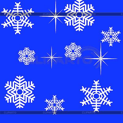 Płatki śniegu | Klipart wektorowy |ID 3076389