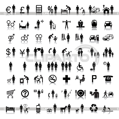 Website and Internet Icons -- People | Stock Vector Graphics |ID 3099708