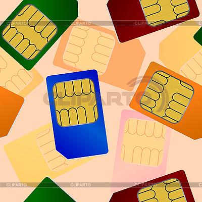 SIM卡。无缝的模式。   向量插图  ID 3099957