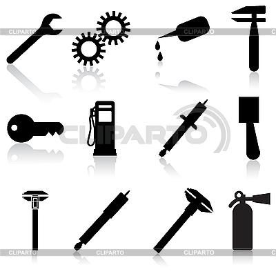 Naprawa samochodów Auto Service Icon Symbol   Klipart wektorowy  ID 3100291