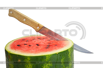 Watermelon with dry stem | Foto stockowe wysokiej rozdzielczości |ID 3101979