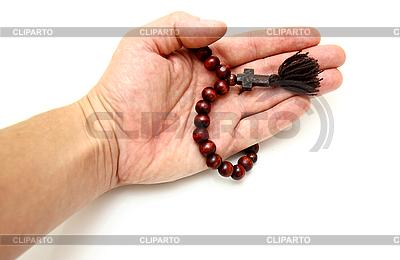 Hand mit Gebetskette | Foto mit hoher Auflösung |ID 3102038