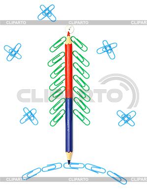 Weihnachtsbaum von Büroklammern | Foto mit hoher Auflösung |ID 3102041
