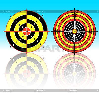 Targets for practical pistol shooting | Klipart wektorowy |ID 3102773