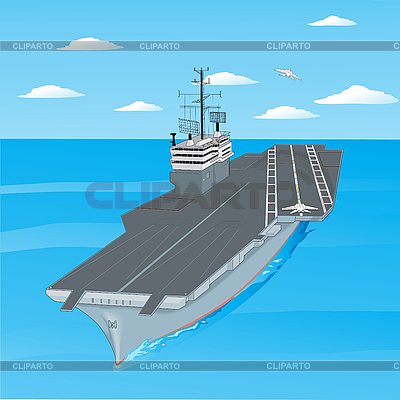 Planes taking off the deck of aircraft carrier | Stock Vector Graphics |ID 3121641