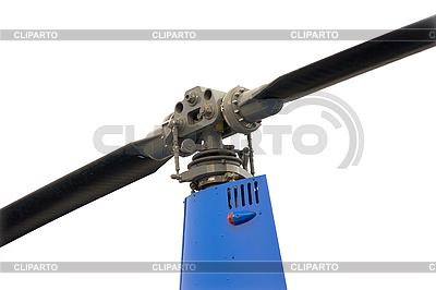 Klinge und blaue Hubschrauber Getriebe | Foto mit hoher Auflösung |ID 3174869