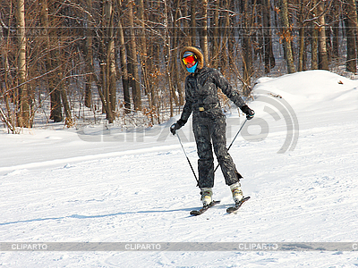 Young woman skiing | High resolution stock photo |ID 3181158