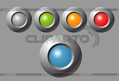 インジケータボタン   ベクターイラスト  ID 3104536