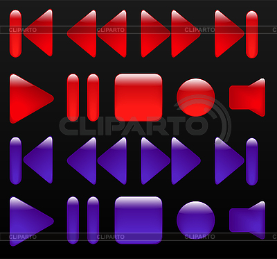 Media buttons   Stock Vector Graphics  ID 3104537