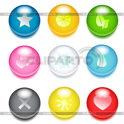 Colored round icons | Stock Vector Graphics |ID 3104550