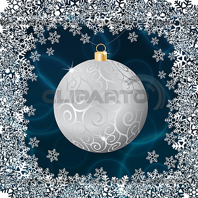 Silver christmas ball   Stock Vector Graphics  ID 3127768
