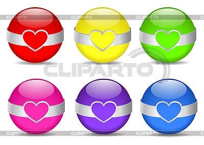 金属リムとの色の球体   ベクターイラスト  ID 3127770