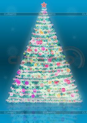 Новогодняя елка | Иллюстрация большого размера |ID 3072696
