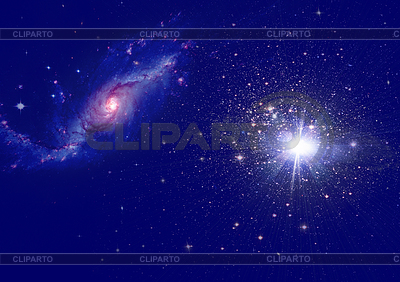 Galaxy and nebula in space   High resolution stock illustration  ID 3313561