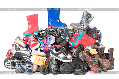 Pile of child shoes   High resolution stock photo  ID 3087646
