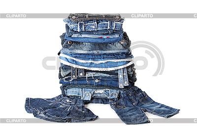 Pila de pantalones vaqueros | Foto de alta resolución |ID 3087651