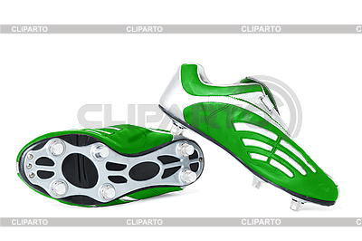 Зеленые футбольные кроссовки | Фото большого размера |ID 3087820