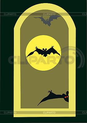 Полнолуние и летучие мыши | Иллюстрация большого размера |ID 3080465