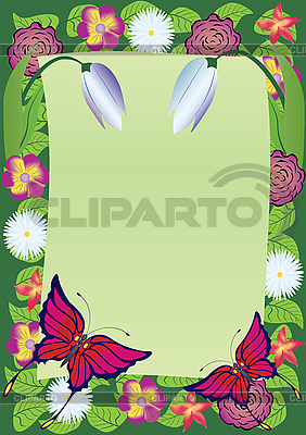 Rahmen der Blumen | Stock Vektorgrafik |ID 3080856