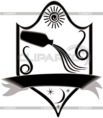 Signboard with zodiac aquarius | Stock Vector Graphics |ID 3081191