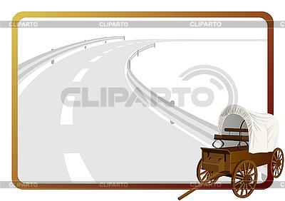 Wagon na drodze   Klipart wektorowy  ID 3080891