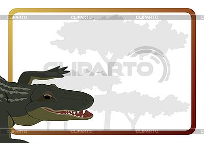 Crocodile and frame   Stock Vector Graphics  ID 3080893