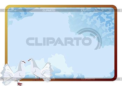 Ramka z gołębiami hite | Klipart wektorowy |ID 3080975