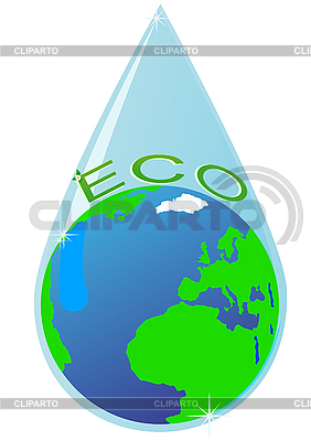 Drop of pure water | Stock Vector Graphics |ID 3081712