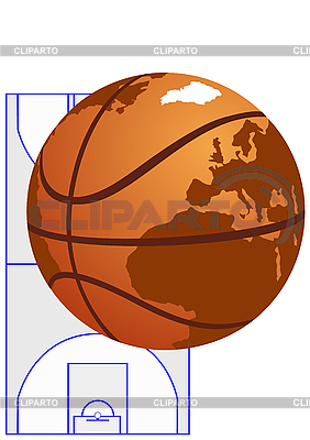 Globe as basketball | Stock Vector Graphics |ID 3083731