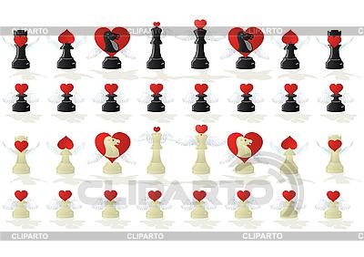 Miłosne szachy | Klipart wektorowy |ID 3083753