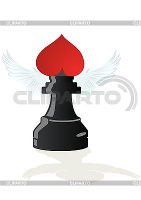 Miłosne szachy Black Elephant | Klipart wektorowy |ID 3083755