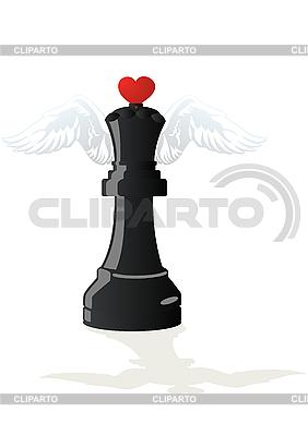Miłosne Czarna Królowa szachy | Klipart wektorowy |ID 3083763