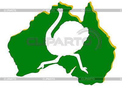 호주지도와 스트라우스 | 벡터 클립 아트 |ID 3083797