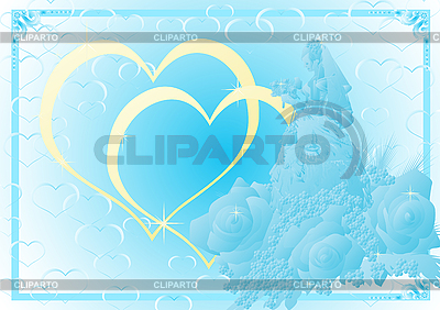 蓝婚礼背景 | 向量插图 |ID 3090529