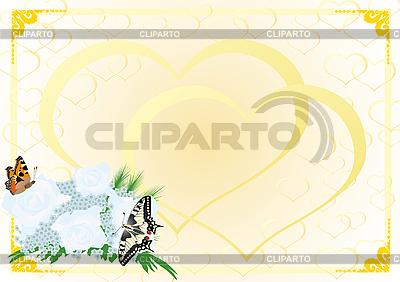 Bukiet ślubny i motyle | Klipart wektorowy |ID 3090533