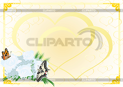 Brautstrauß und Schmetterlinge | Stock Vektorgrafik |ID 3090533