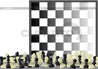 Szachy i szachownica   Klipart wektorowy  ID 3096900