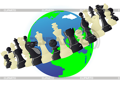 Chess orbit   Stock Vector Graphics  ID 3096912