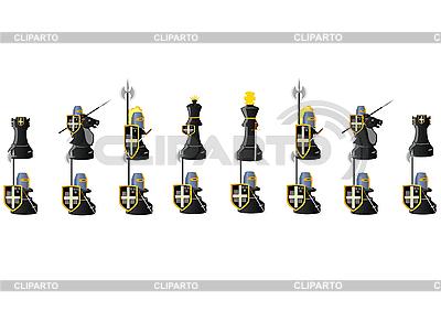 Black Chess Warriors | Stock Vector Graphics |ID 3096924