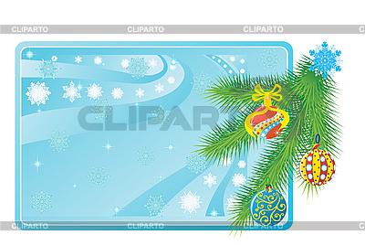 卡与圣诞球 | 向量插图 |ID 3096979