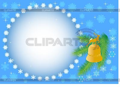 Tannenzweige mit einer Glocke | Stock Vektorgrafik |ID 3105466