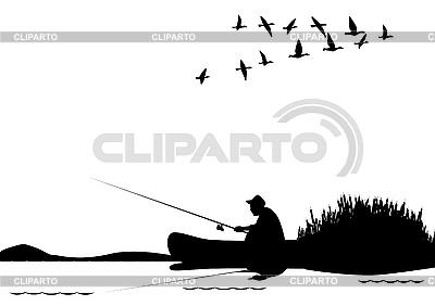 Wędkowanie z łodzi | Klipart wektorowy |ID 3105474