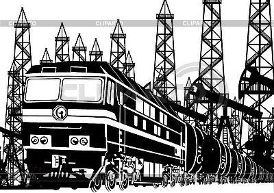 Lokomotywy Amtrak z olejem | Klipart wektorowy |ID 3111556