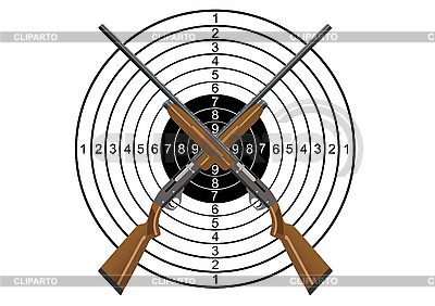 Hunting rifles and target | Stock Vector Graphics |ID 3112852