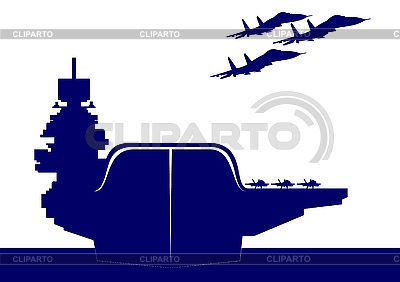 Aircraft carrier | Stock Vector Graphics |ID 3125291