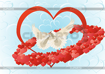 Love and doves | Stock Vector Graphics |ID 3127196