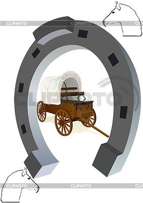 Horseshoe i wagon   Klipart wektorowy  ID 3291913