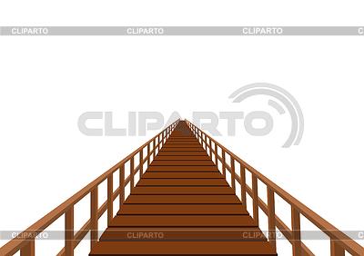 Wooden bridge with handrail | Stock Vector Graphics |ID 3328739
