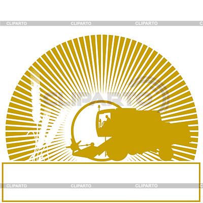 Mähdrescher in der Sonne   Stock Vektorgrafik  ID 3330434